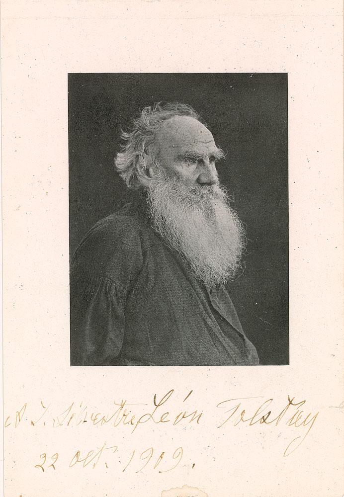 Фотография Льва Николаевича Толстого, 1909