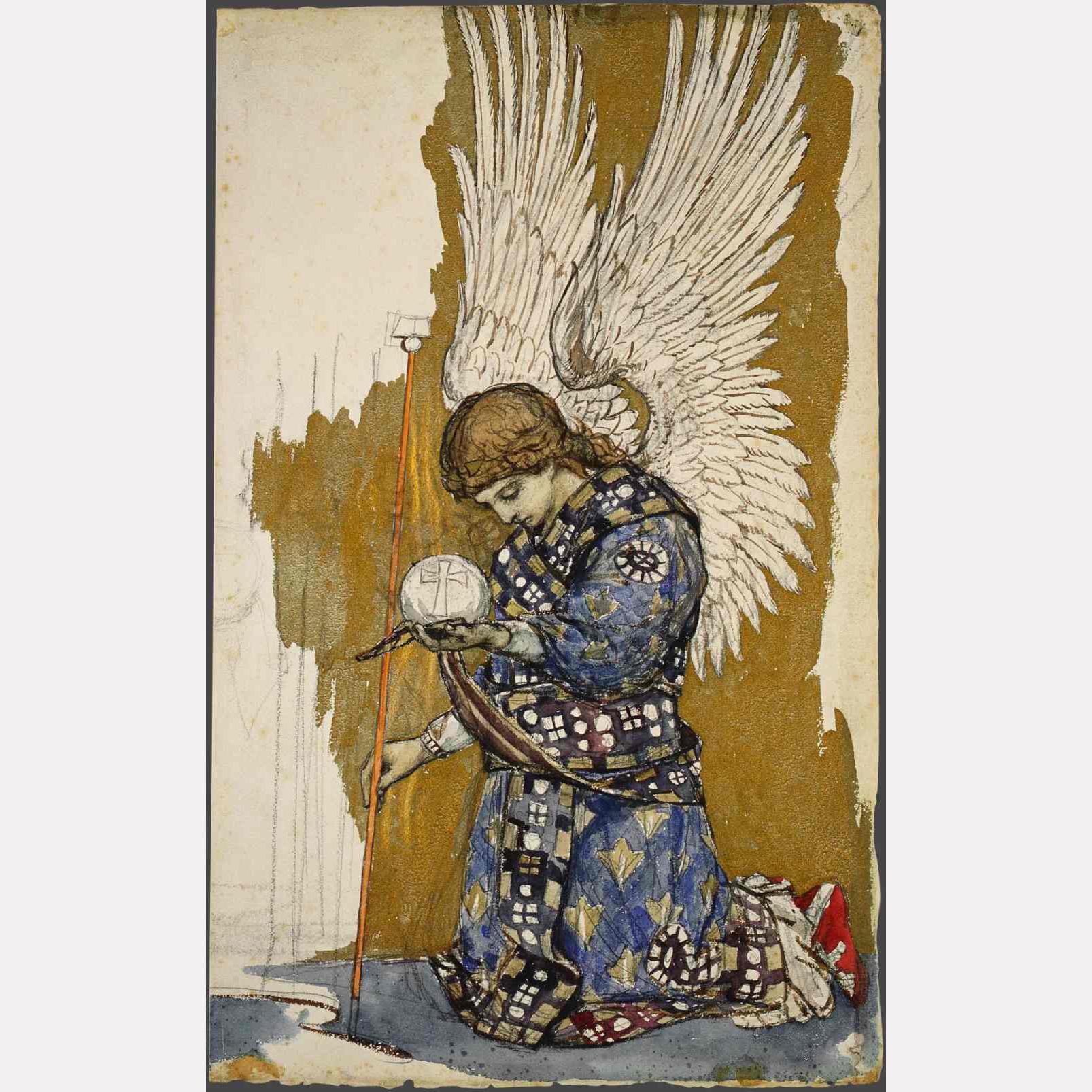 Виктор Васнецов. Коленопреклоненный архангел, 1885-1893