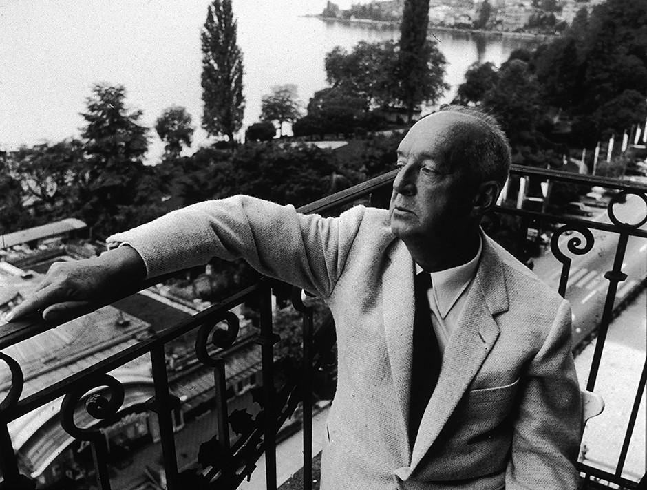 Владимир Набоков в Швейцарии, фото Horst Tappe