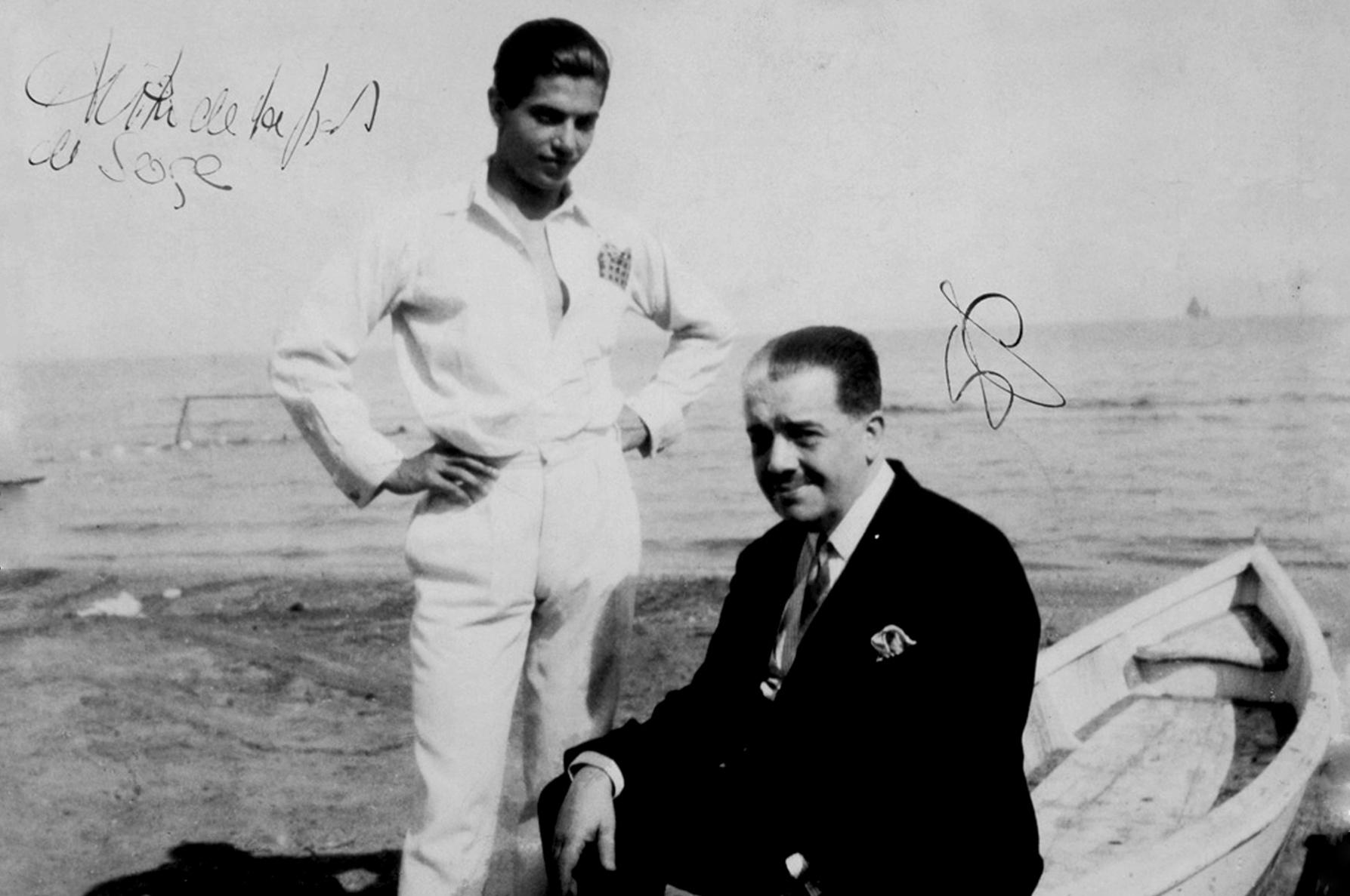 Дягилев и Серж Лифарь, Лондон 1928.
