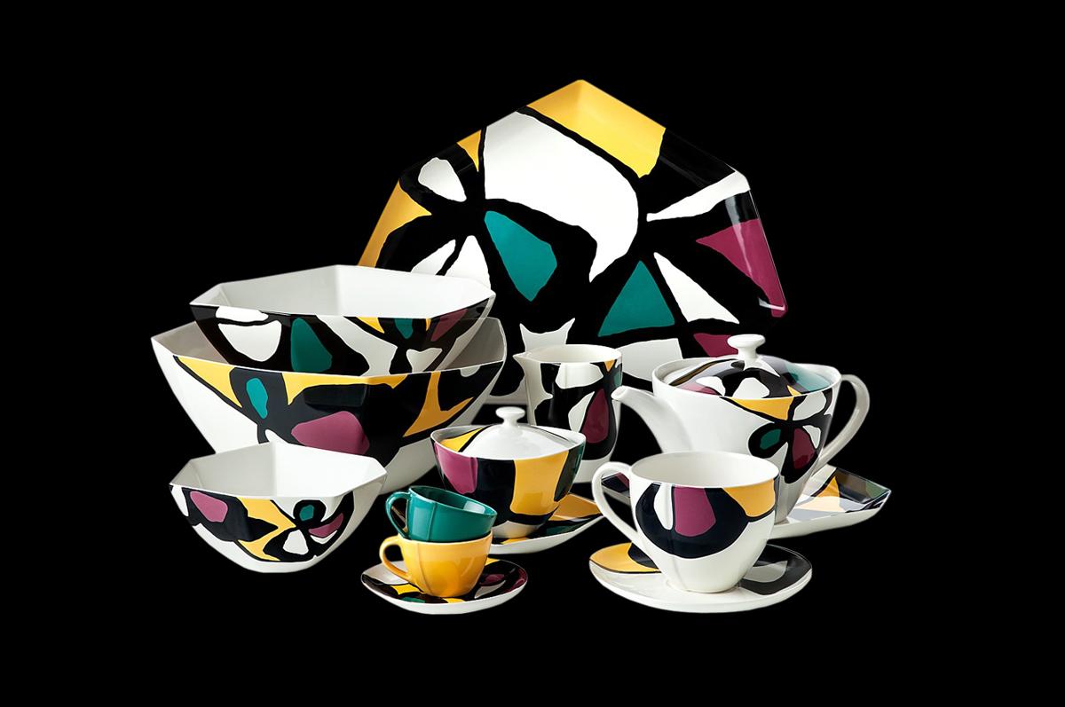 Фарфоровый сервиз «Цветы Миро» от Дианы фон Фюрстенберг по мотивам работ художника.