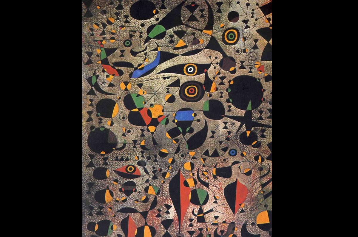 «Женщина в окружении летящих птиц». Хоан Миро, 1941.