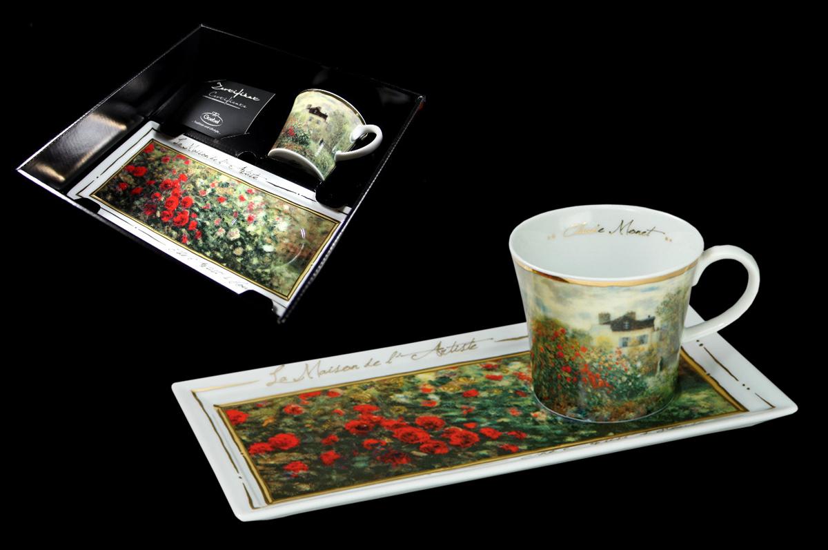 Чашка и блюдце по мотивам картины Клода Моне, из коллекции «Artis Orbis». Фарфоровая мануфактура «Goebel», Германия.