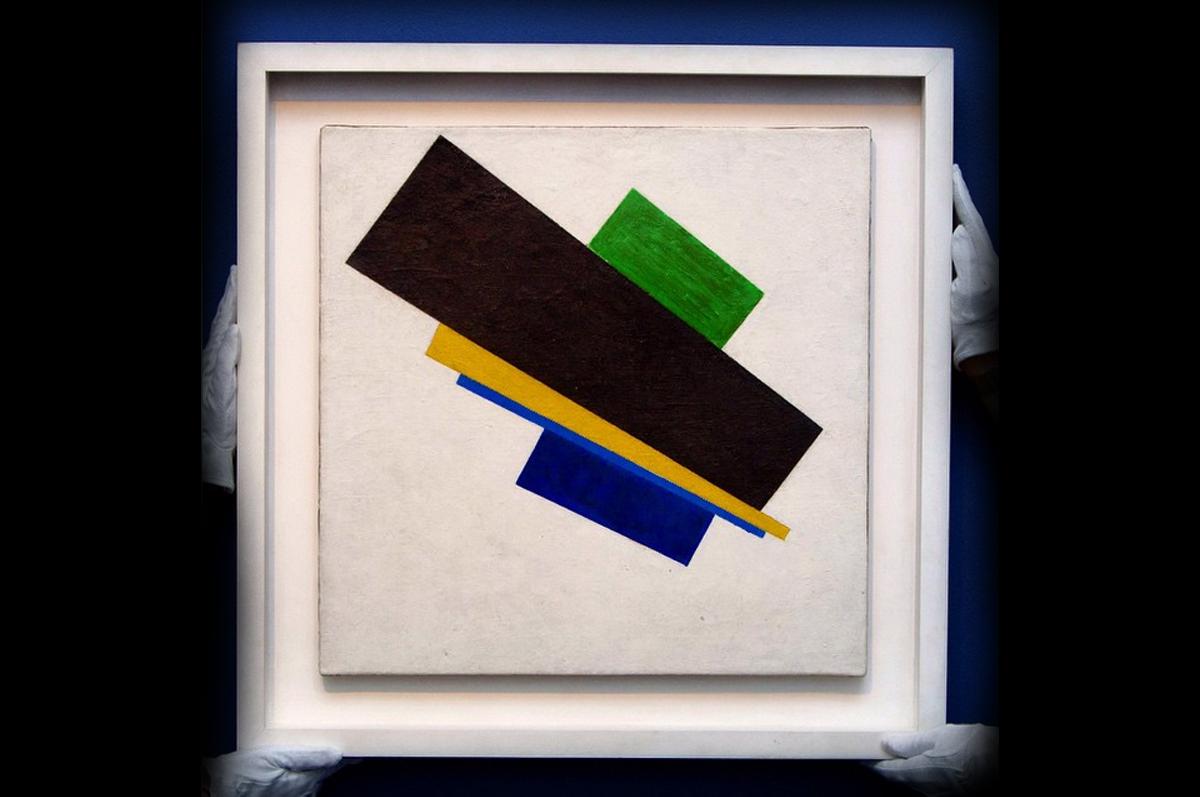 «Супрематическая композиция № 18»  Казимира Малевича продана 24 июня на лондонских торгах Sotheby′s за £21,429,000 / фото @sothebys, официальная страница аукционного дома в instagram