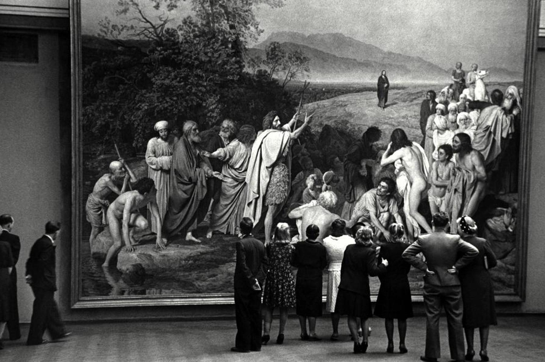 Роберт Капа. СССР. Москва. Третьяковская Галерея. 1947