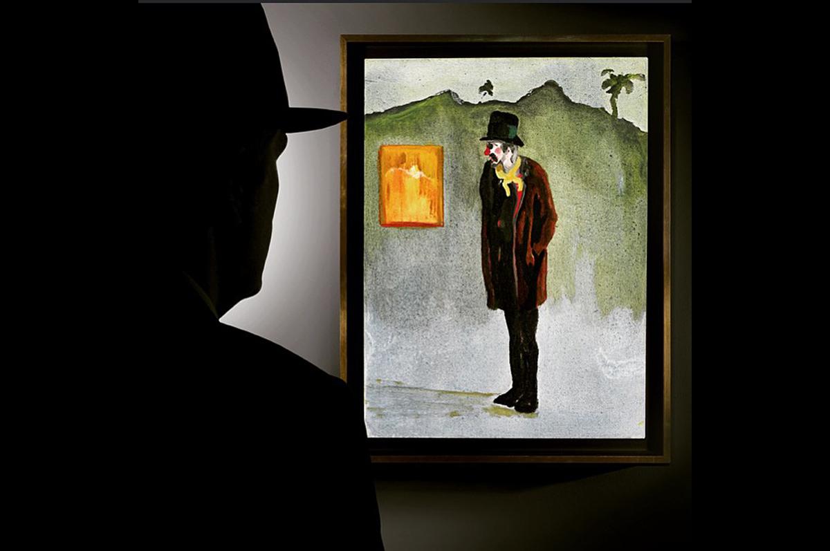 «Прощальный взгляд» на клоуна Питера Дойга. Картина продана на лондонских торгах Sotheby′s за £1,265,000 / фото @sothebys, официальная страница аукционного дома в instagram