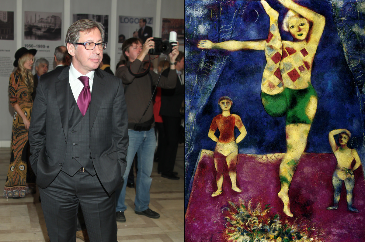 «Три акробата» Марка Шагала, 1926. Владелец — российский предприниматель и коллекционер Петр Авен. Картина приобретена 8 мая 2013 на нью-йоркских торгах Christie's за $13,003,750 / фото www.kandinsky-prize.ru