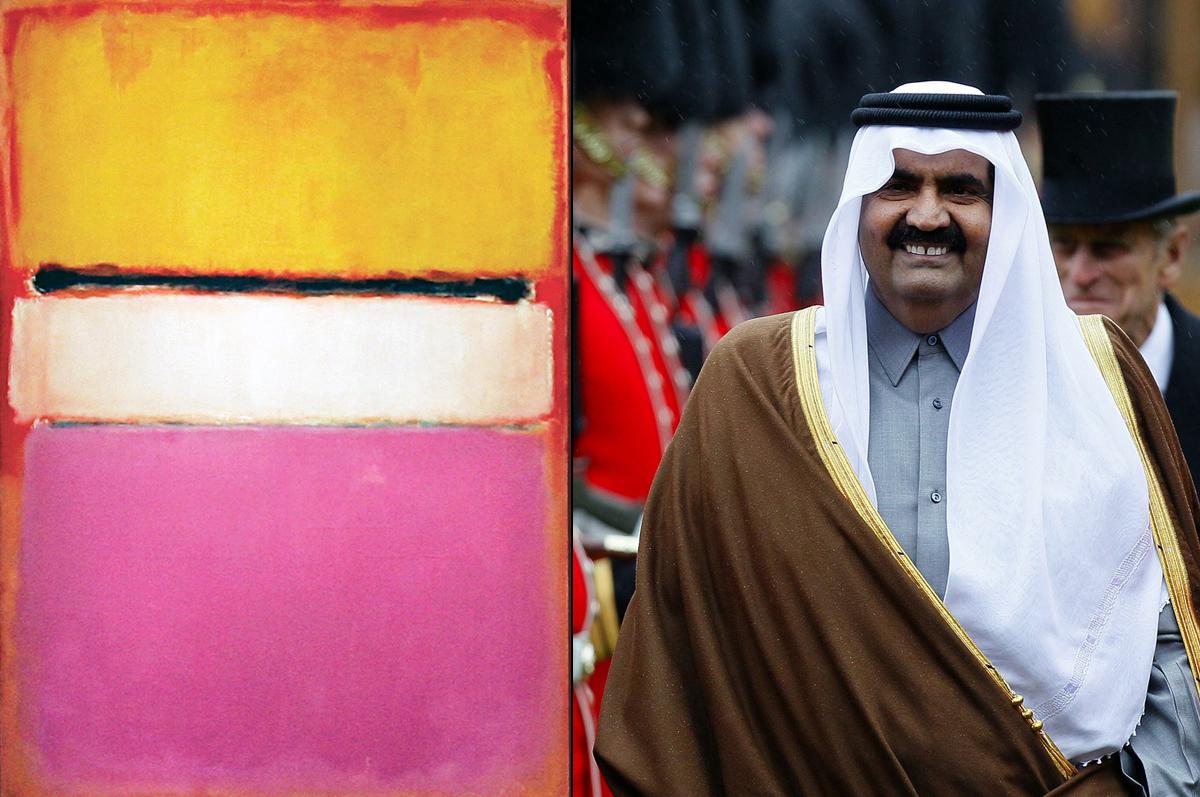 «Белый центр» Марка Ротко, 1950. Картина находится в частной коллекции эмира Катара, Шейха Хамада бин Халифа Аль Тани. Была приобретена в 16 мая 2007 года на торгах Sotheby's за $72,840,000 / фото politiken.dk
