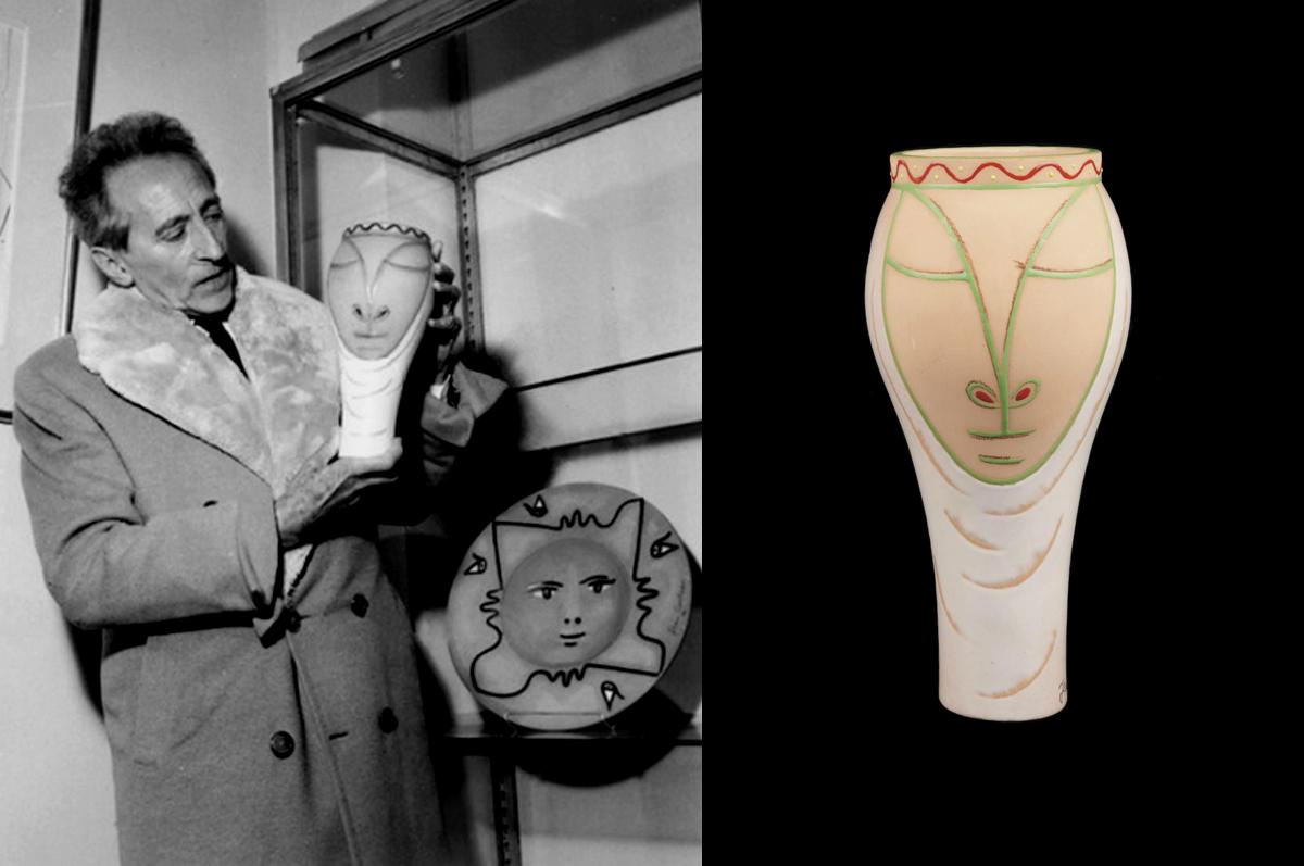 Средневековье / Médiévale. Жан Кокто и терракотовая ваза, 1958