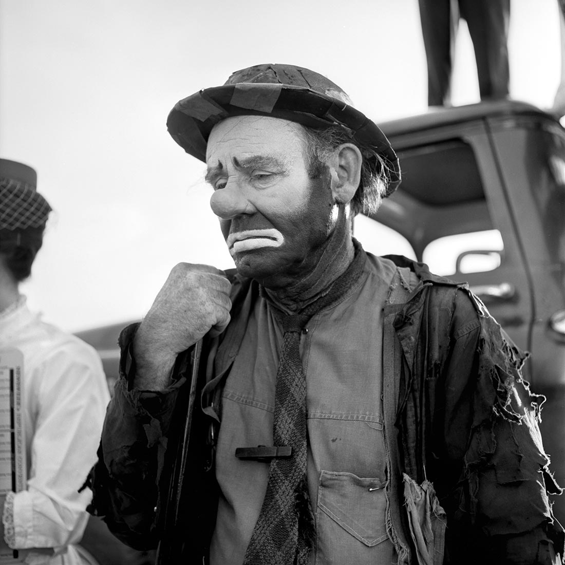 Emmett Kelly as the clown figure Weary Willie