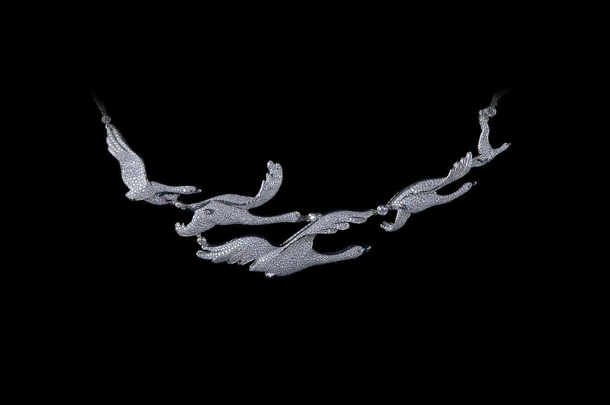 Драгоценное ожерелье / белое золото, бриллианты / коллекция Fairy Tales, Jewellery Theatre