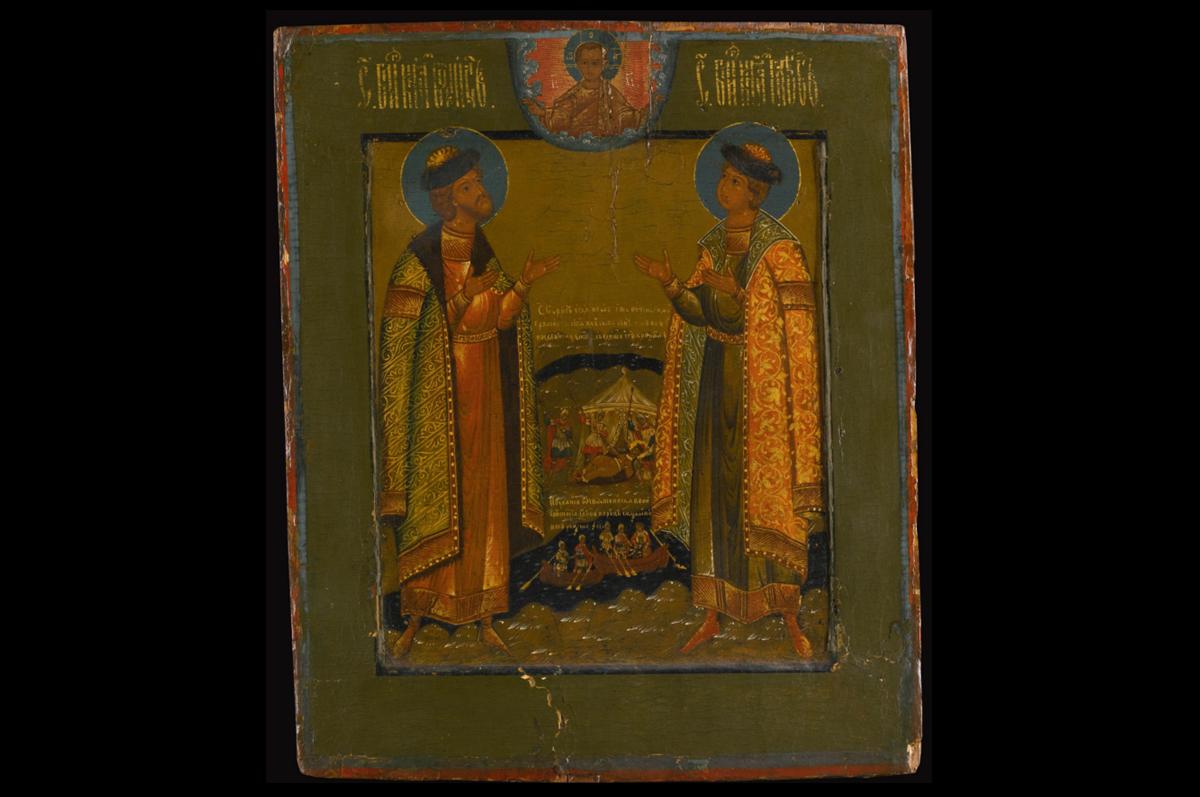 Икона Святых страстотерпцев Бориса и Глеба