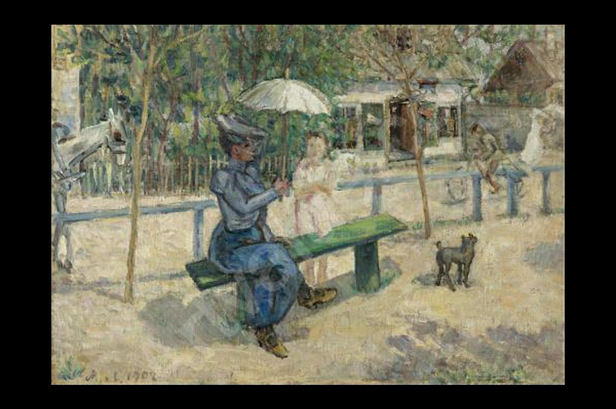 На скамейке в парке. Михаил Ларионов, 1930-е