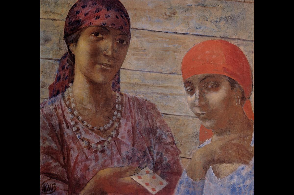 Кузьма Петров-Водкин. Цыганки, 1927