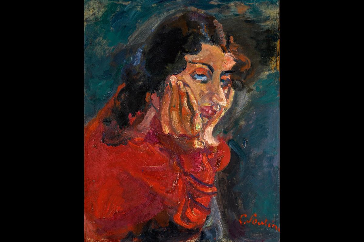 Хаим Сутин. «Облокачивающаяся женщина», ок. 1937