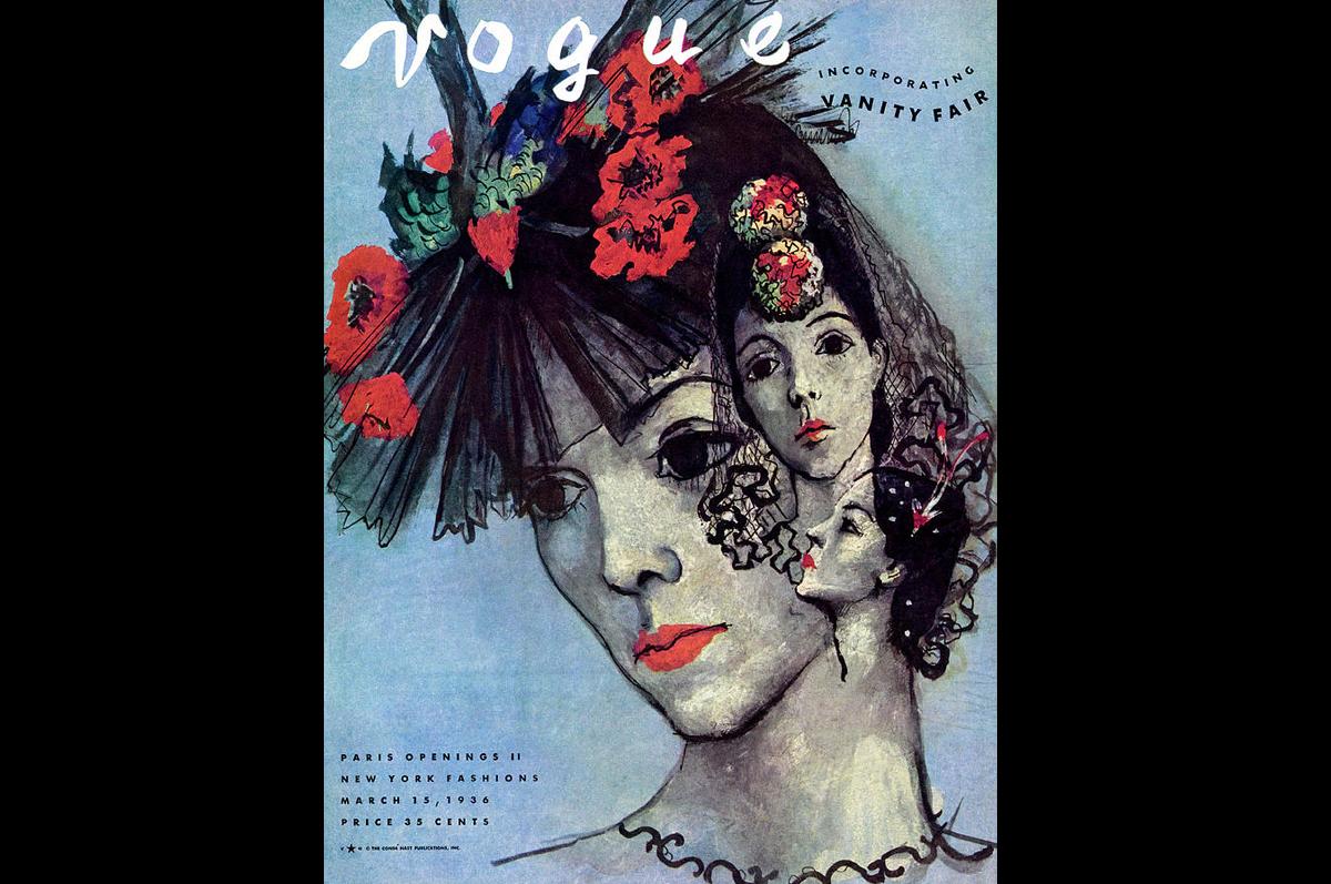 Павел Челищев. Обложка для модного журнала «Vogue», 15 июля 1935