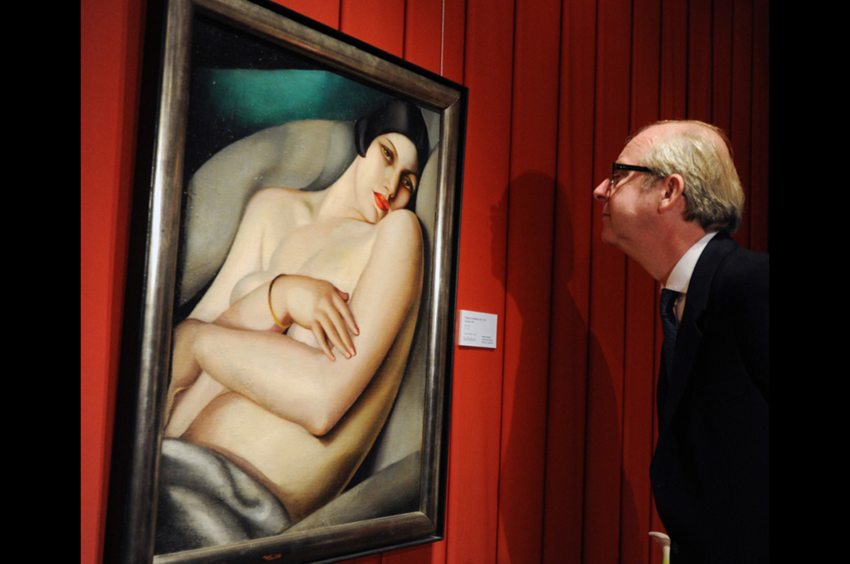 Тамара Лемпицка. «Сон (Рафаэла на зеленом фоне)», 1927