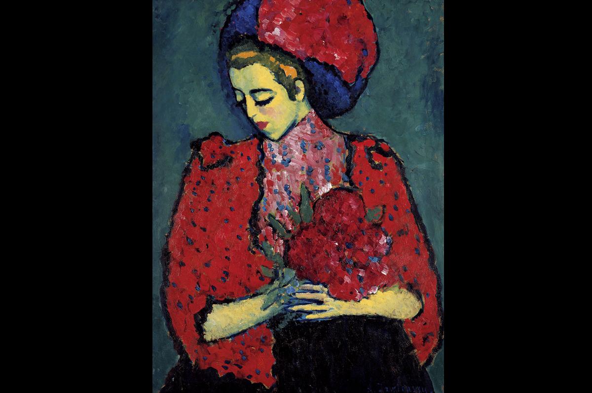 Алексей фон Явленский. Молодая женщина с пионами, 1909