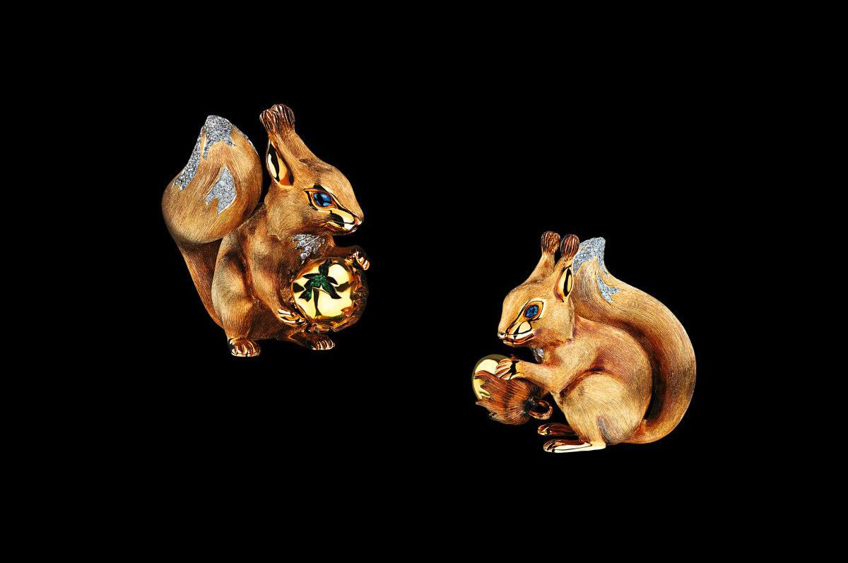 Ювелирная скульптура / желтое золото, бриллианты, цавориты / коллекция Fairy Tales, Jewellery Theatre