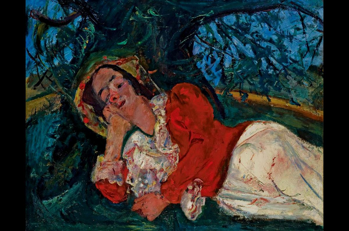 Хаим Сутин. «Сиеста (Женщина растянулась под деревом)», ок. 1934