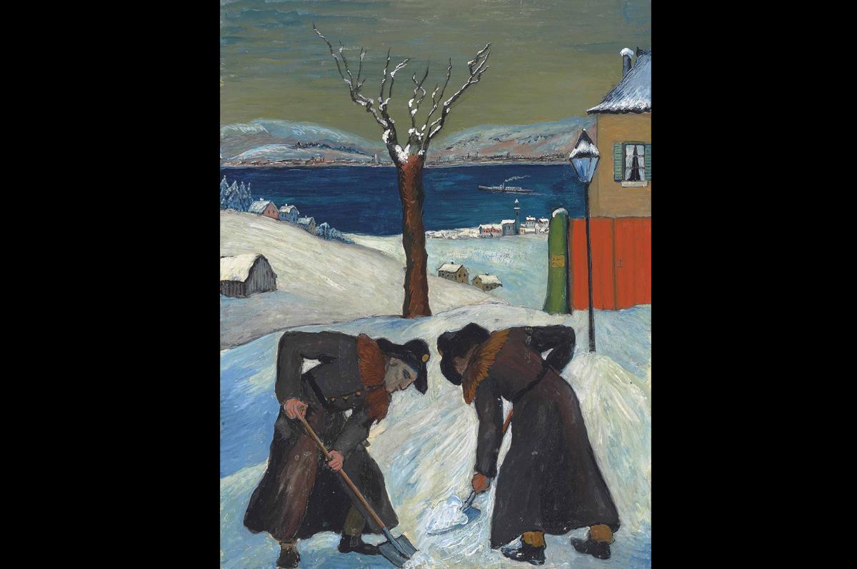 Марианна Веревкина. Снег на ночь, 1918. Продана летом 2013 на лондонских торгах Christie's за £121,875.