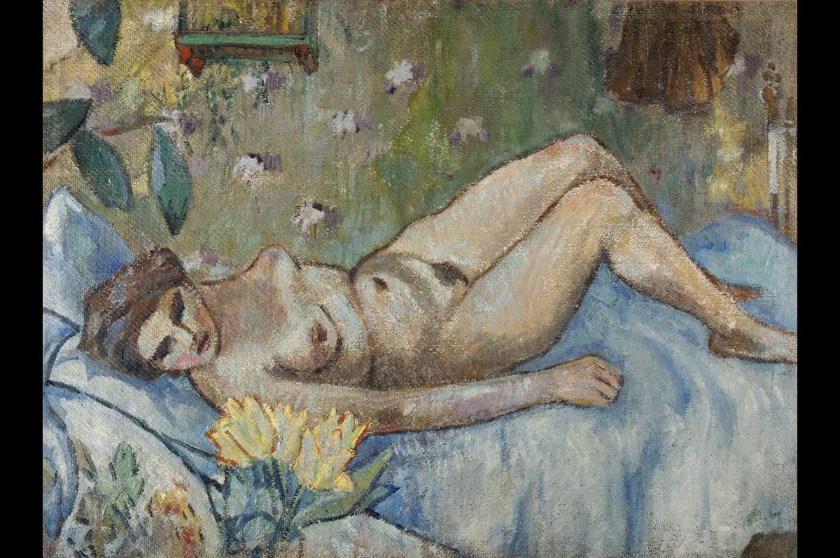 Лежащая обнаженная. Михаил Ларионов, 1906-1907