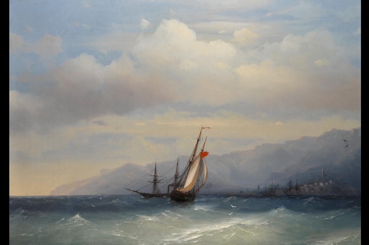 Иван Айвазовский. «Берег Ялты», 1851