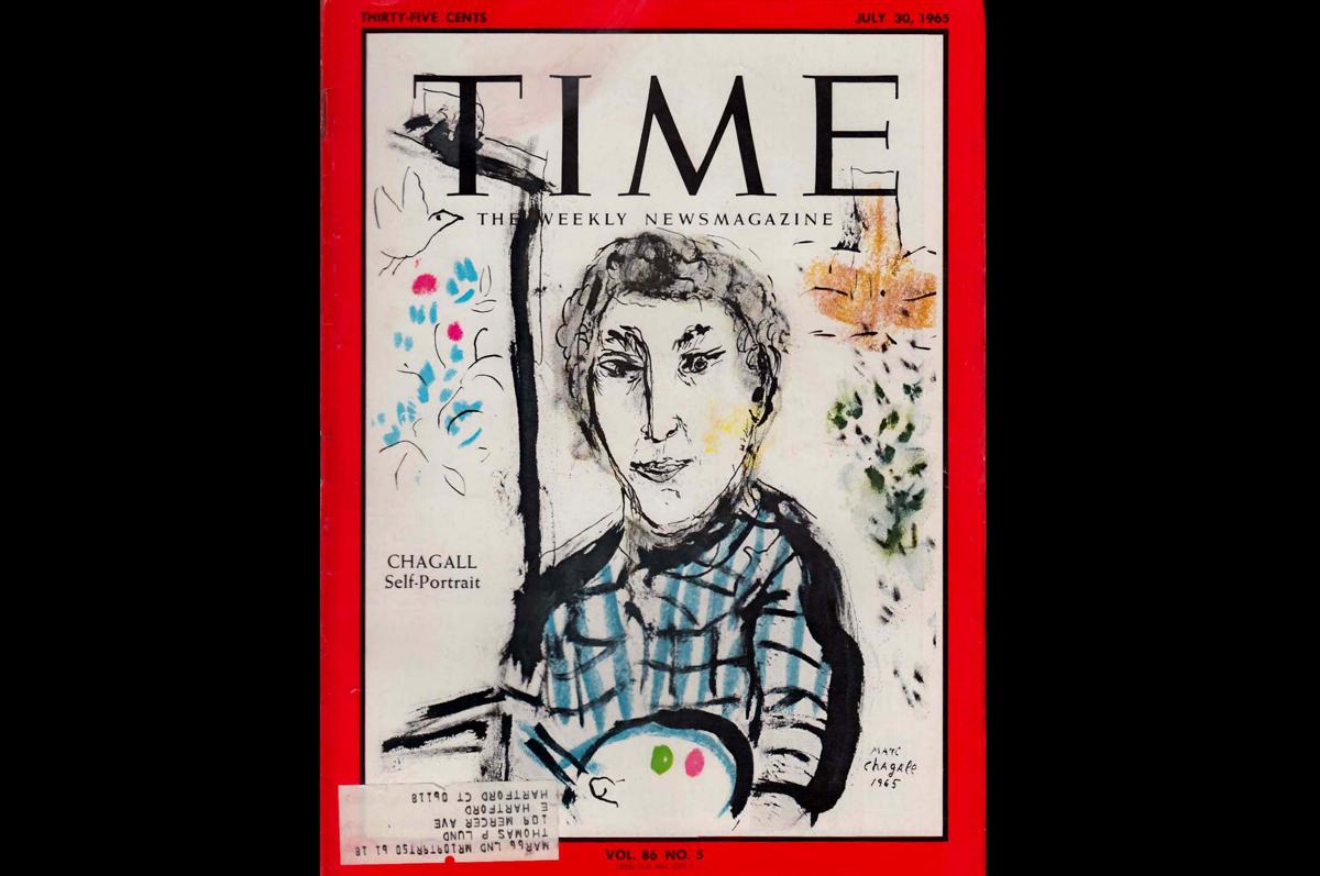 Марк Шагал. Автопортрет на обложке журнала «Time», 30 июля 1965