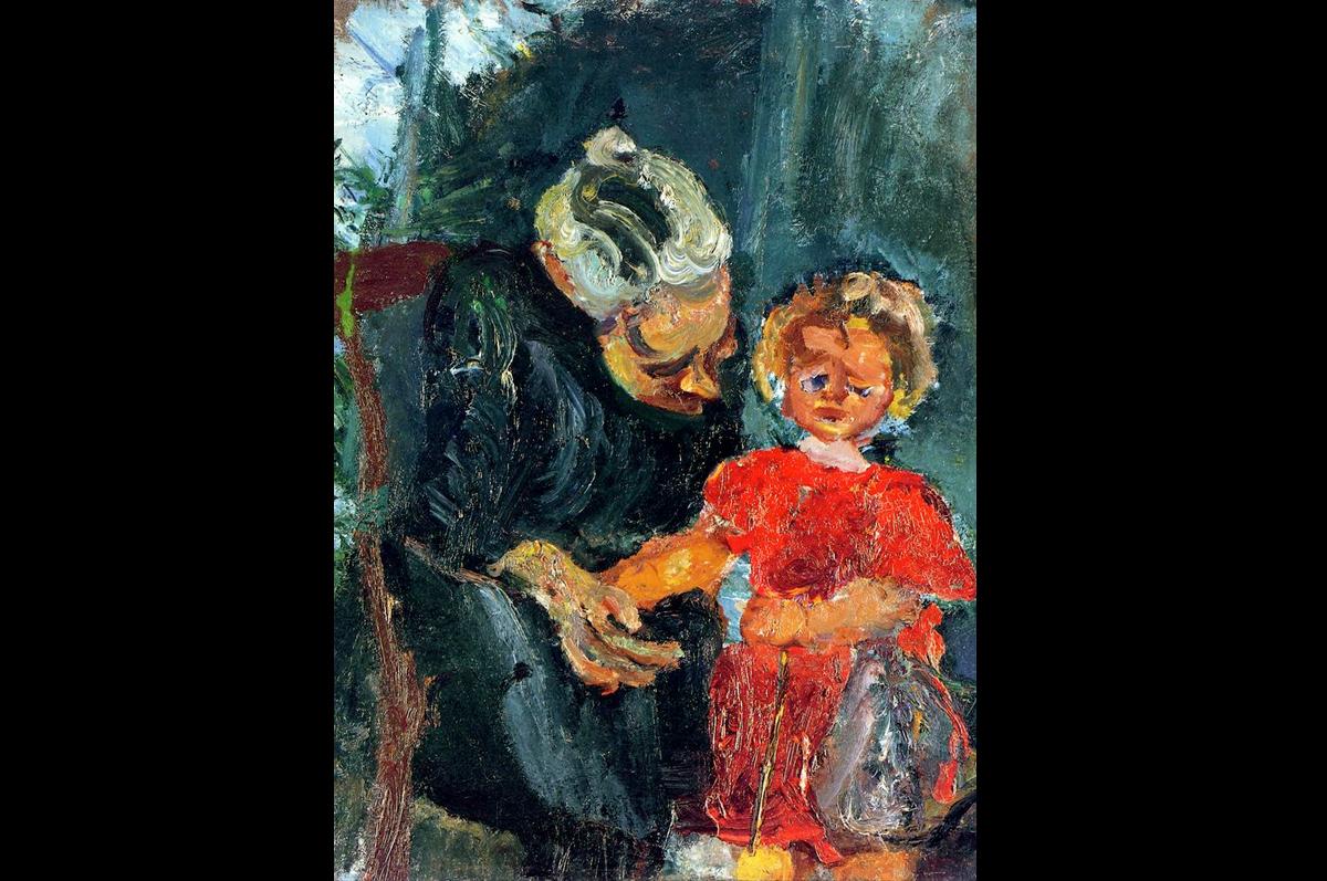 Хаим Сутин. «Бабушка и дитя», ок. 1943