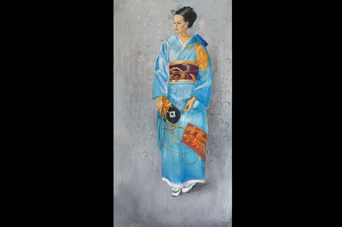 Юрий Пименов. «Японская девушка Киоко», 1975