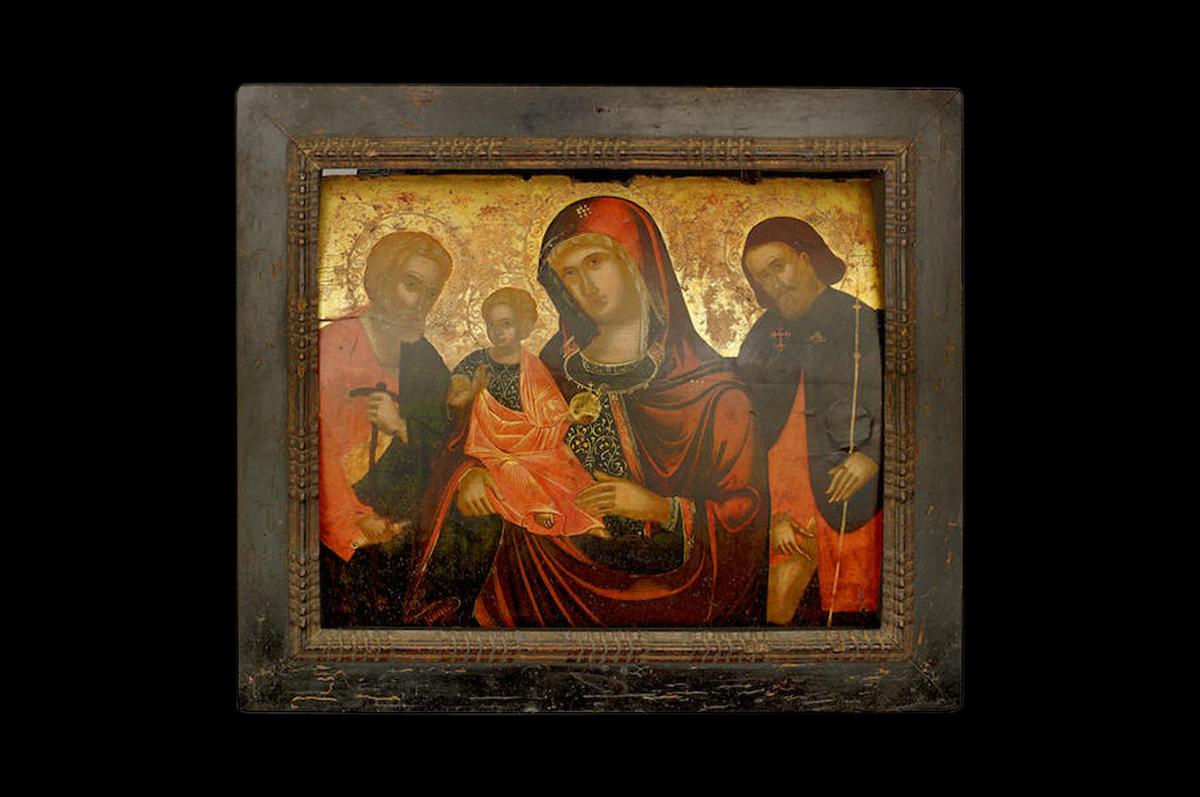 Икона Богоматери Утешительницы со Святым Иосифом и Святым Рохом