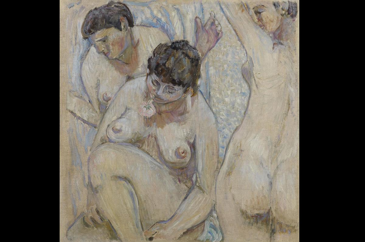 Три купальщицы с розой. Михаил Ларионов, 1904