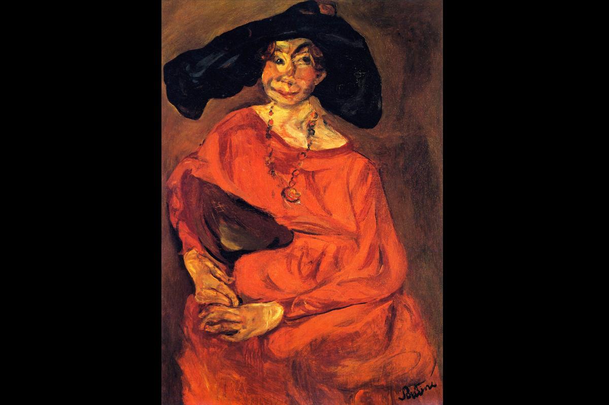 Хаим Сутин. «Женщина в красном», 1924