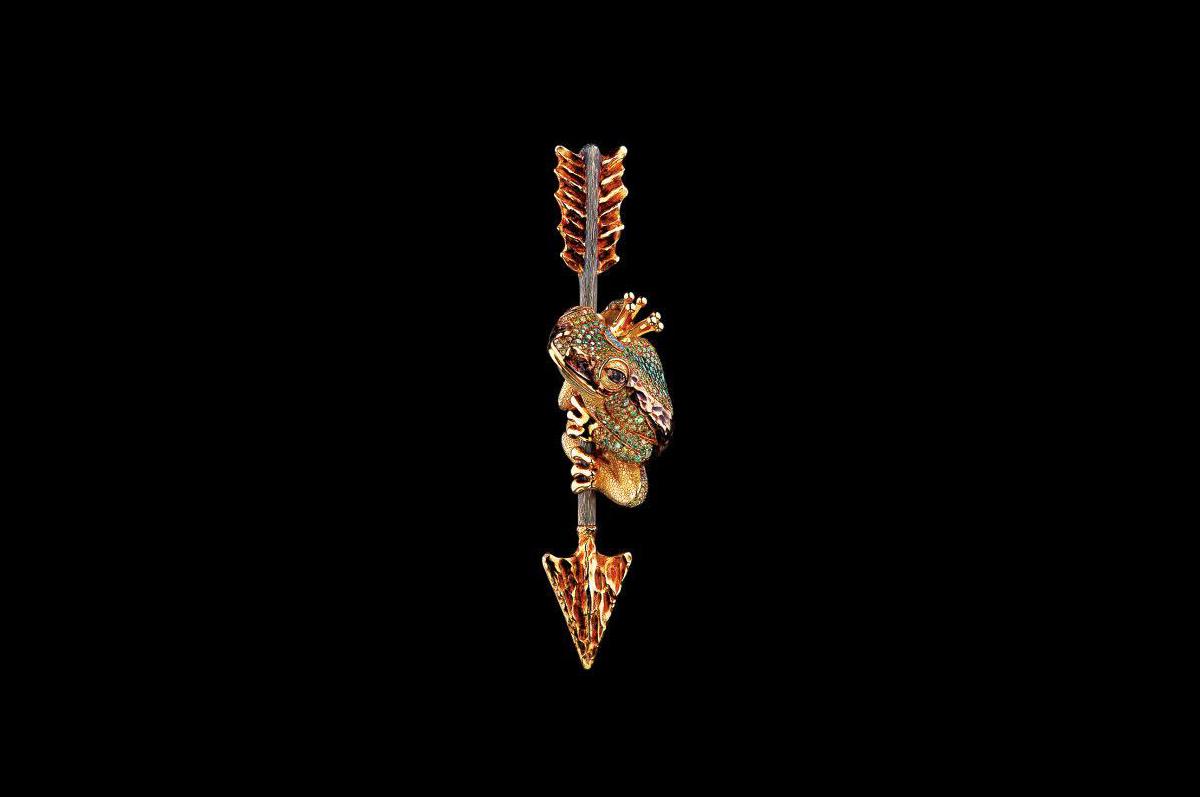 Кулон / желтое золото, бриллианты, коньячные, желтые, желто-зеленые бриллианты / коллекция Fairy Tales, Jewellery Theatre