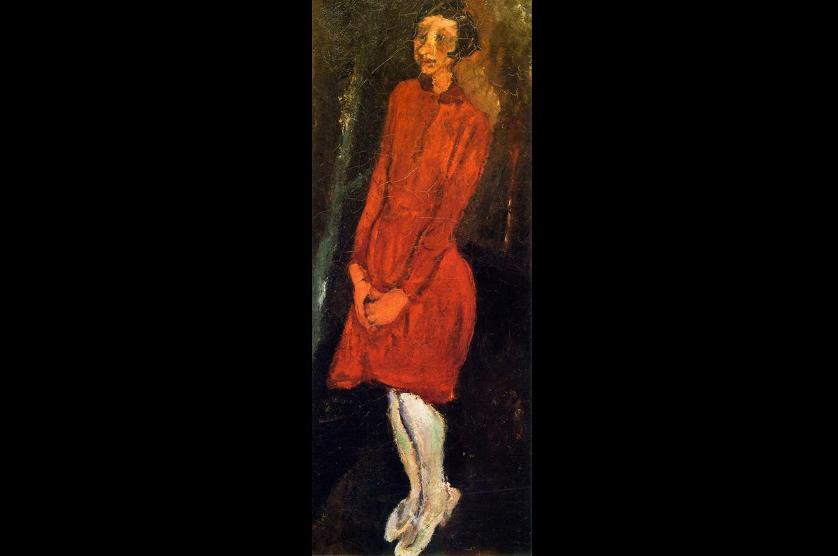 Хаим Сутин. Красное платье, ок. 1924