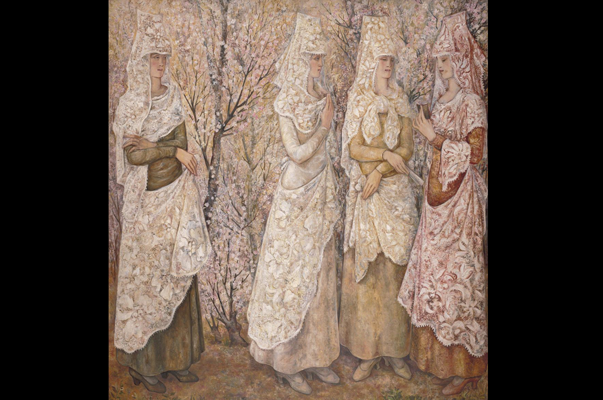 Наталья Гончарова. Весна. Белые испанки, 1932