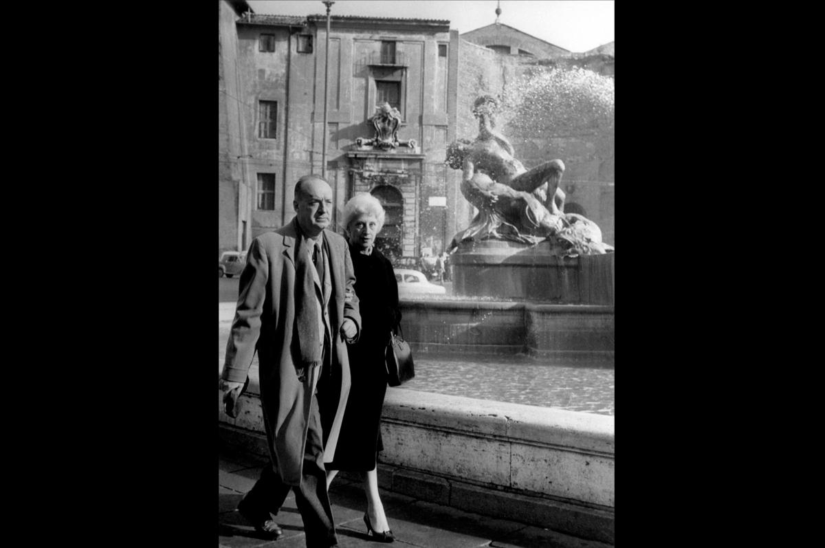 Владимир Набоков и Вера в Риме, 1959
