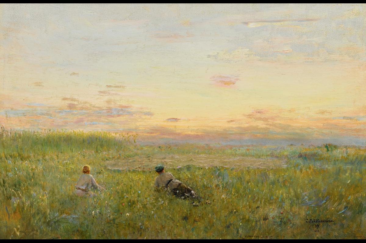 Иван Похитонов. «Охота на перепелов в Жабовщине», ок. 1902-1906