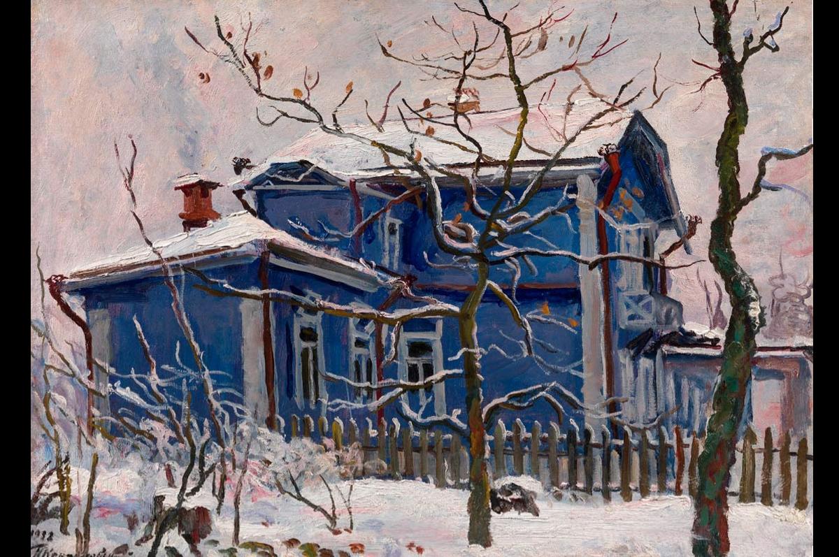 Петр Кончаловский. Первый снег. Голубая дача, 1932. Частная коллекция